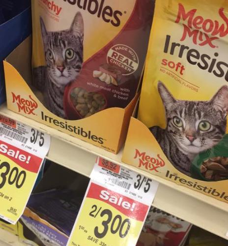 Meow Mix Treats  40 Cents at Shaw's
