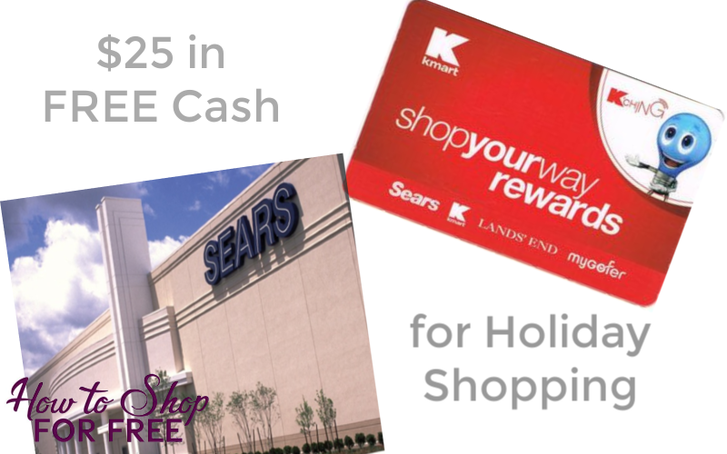 $25 in F R E E Cash for your Holiday Shopping!