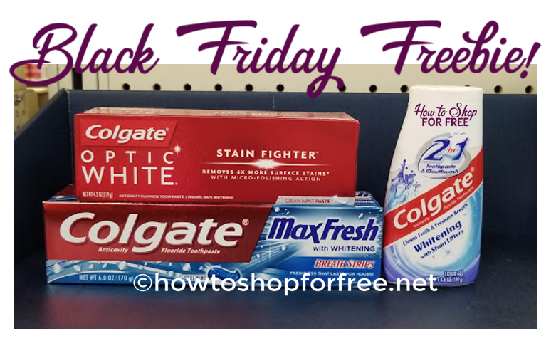 CVS Black Friday FREEBIE:  Colgate Toothpaste