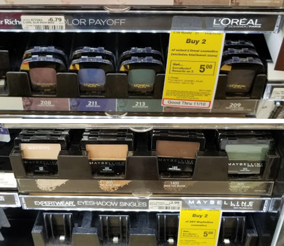 MONEY MAKER on Maybelline and L'Oreal Eyeshadows at CVS!