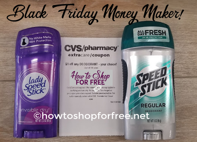 Speed Stick Money Maker at CVS! ~ Black Friday Deal!