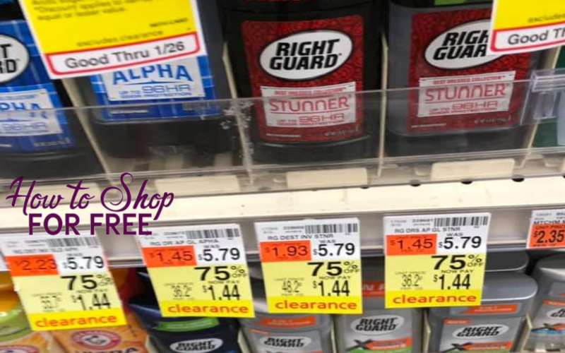 Right Guard Deodorant Only 1 44