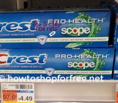 F R E Crest Toothpaste At CVS