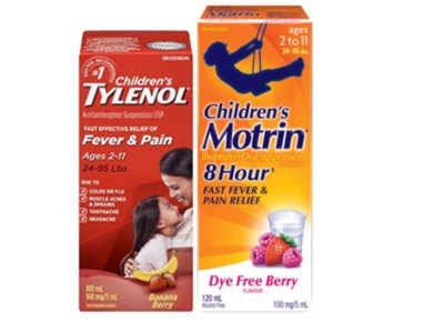Can a child take tylenol and motrin together