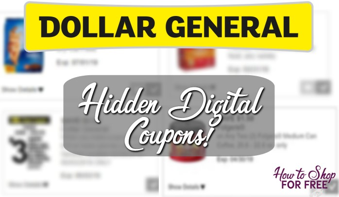 Dg Hidden Digital Coupons How To Shop For Free With Kathy Spencer