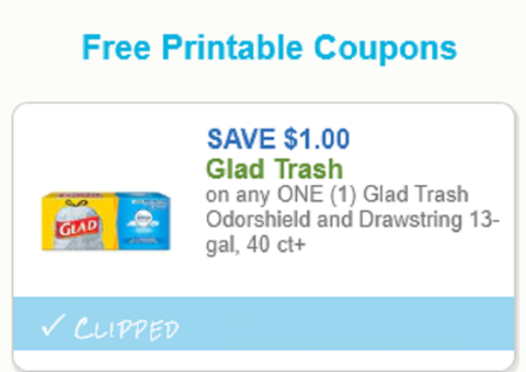 graphic regarding Glad Trash Bags Printable Coupon known as Contented Trash Baggage Coupon! How in direction of Retail outlet For Cost-free with Kathy
