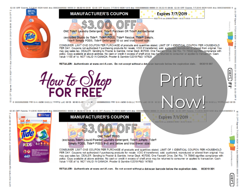 It's just a photo of Geeky P&g Coupon Printable