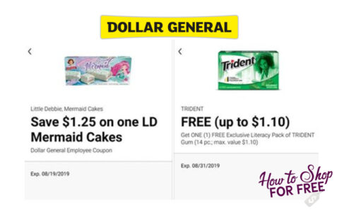 photo about Trident Coupons Printable named Greenback Overall Staff Coupon codes Which include Absolutely free Trident Gum