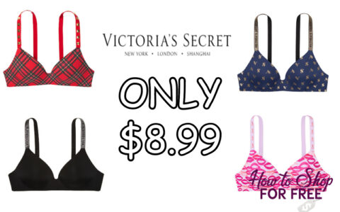 graphic relating to Victoria Secret 10 Off Bra Printable Coupon called Frivolously Covered Wi-fi Victorias Solution Bra Basically $8.99
