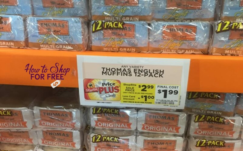 1 on ANY (1) Thomas' bagels or English muffins coupon!