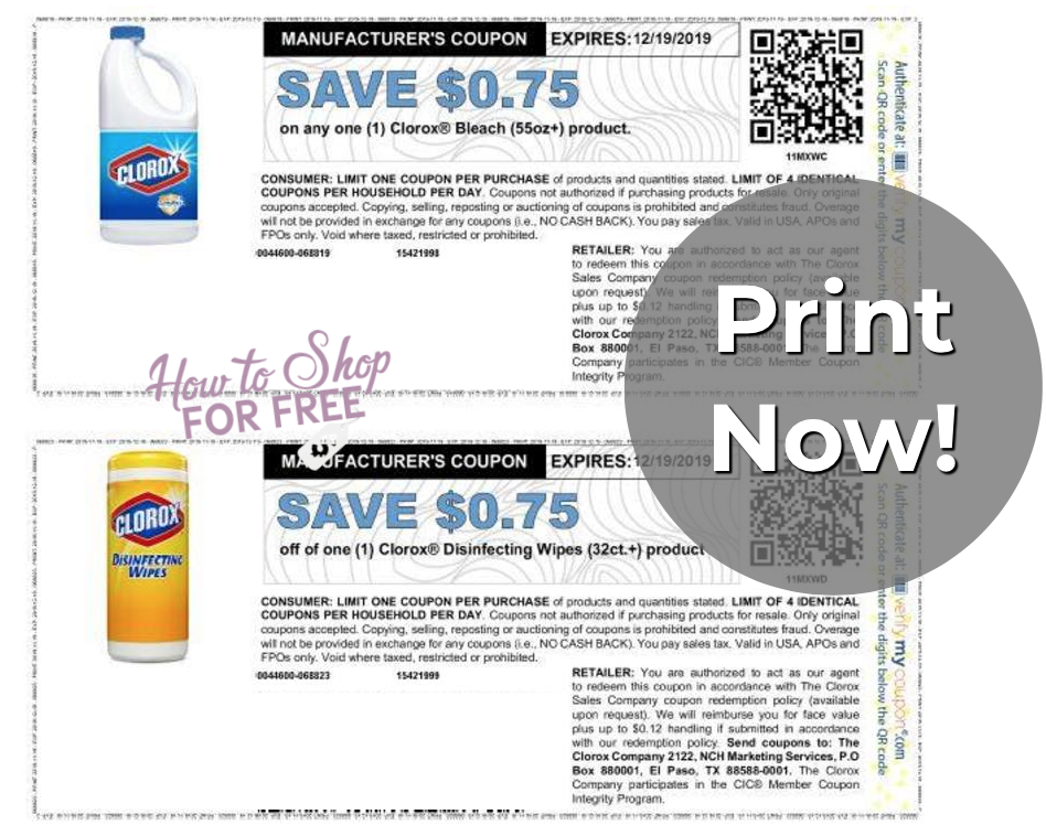New Clorox Coupons How To Shop For Free With Kathy Spencer
