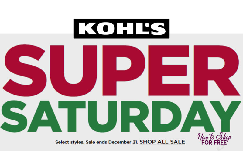 Stack Codes At Kohl S Super Saturday Sale How To Shop For Free With Kathy Spencer