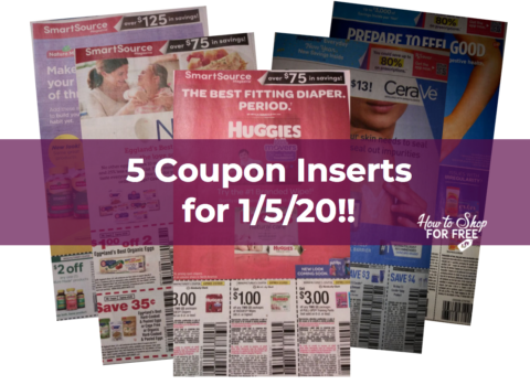 5 Coupon Inserts Expected For 1 5 20 How To Shop For Free With Kathy Spencer