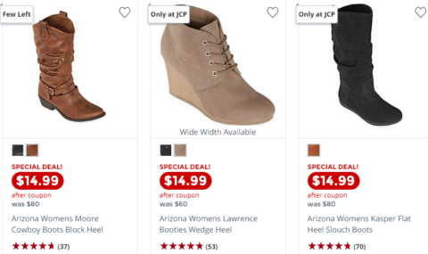 Boots ONLY $14.99 at JCP