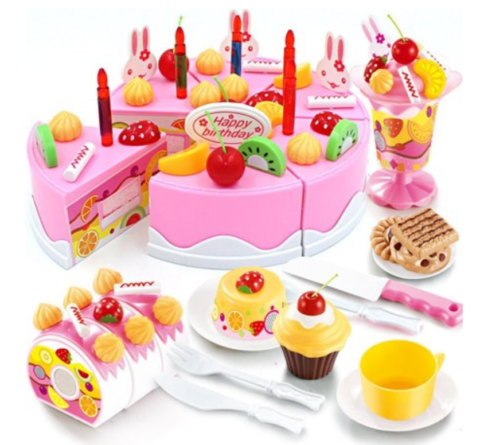 Brilliant Birthday Cake 75 Piece Play Set On Clearance At Walmart How To Funny Birthday Cards Online Barepcheapnameinfo