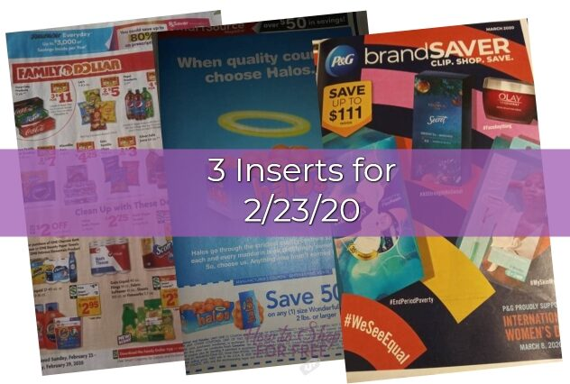 2 23 Coupon Inserts How To Shop For Free With Kathy Spencer
