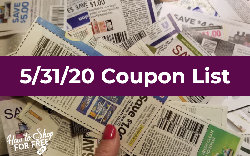 5 31 Coupon List How To Shop For Free With Kathy Spencer