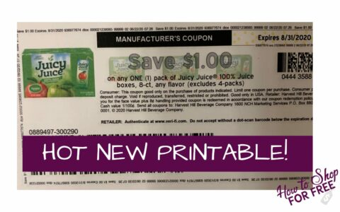 Hot Juicy Juice Printable Coupon How To Shop For Free With Kathy Spencer