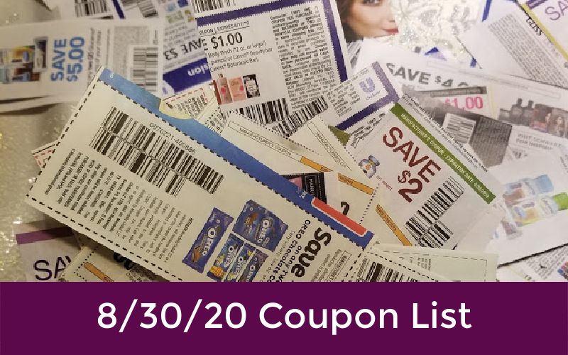 8 30 Coupon List How To Shop For Free With Kathy Spencer